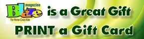 Printable Blaze Gift Card